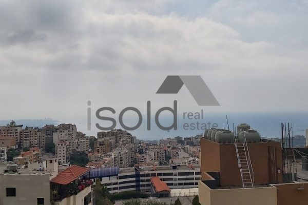 Duplex apartment with an open sea view for sale in Dik El Mehdi